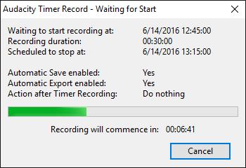 audacity recording problems windows 10