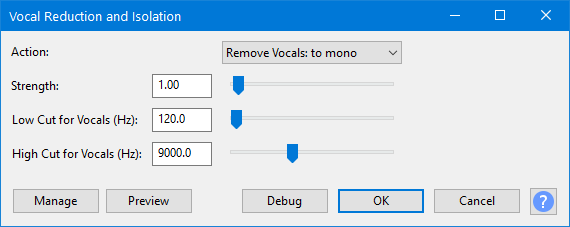 Vocal Reduction and Isolation - Audacity Manual