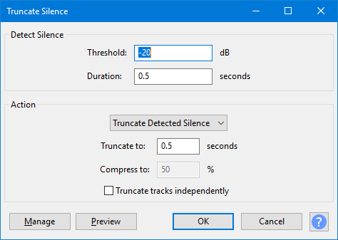 Truncate Silence - Audacity Manual