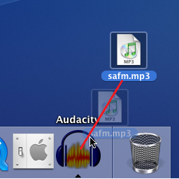Opening an audio file on a Mac