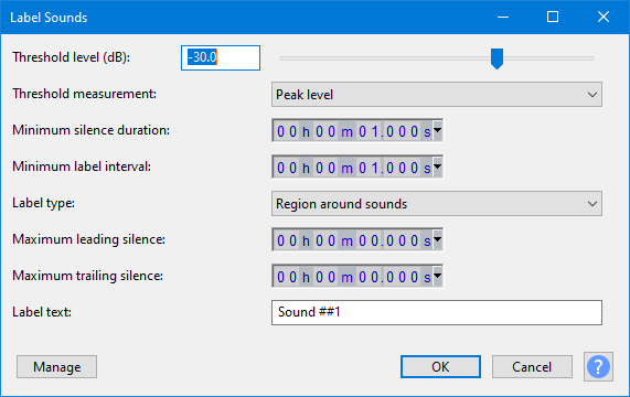 Label Sounds replaces Sound Finder and Silence Finder