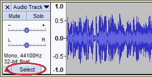 Selecting Audio - Audacity Manual