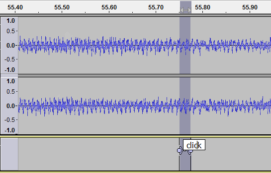 Clicky example waveform view click labelled.png