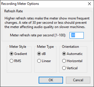 how to set input level in audacity